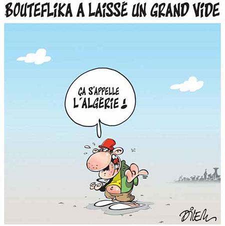 Bouteflika a laissé un grand vide - Dessins et Caricatures, Dilem - Liberté - Gagdz.com