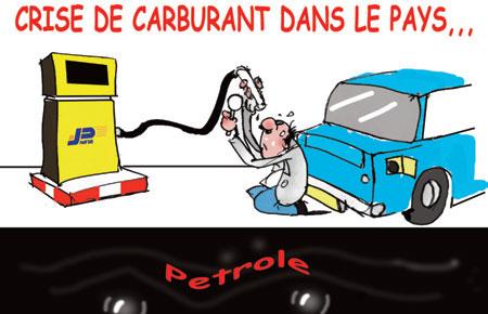 Crise de carburant dans le pays - Dessins et Caricatures, Jony-Mar - La voix de l'Oranie - Gagdz.com