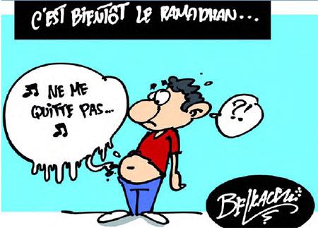 C'est bientôt le ramadhan - Belkacem - Le Courrier d'Algérie, Dessins et Caricatures - Gagdz.com