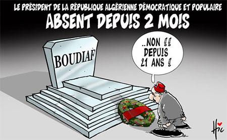 Le président absent depuis 2 mois - Dessins et Caricatures, Le Hic - El Watan - Gagdz.com