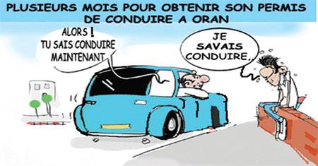 Plusieurs mois pour obtenir son permis de conduire à Oran - Dessins et Caricatures, Jony-Mar - La voix de l'Oranie - Gagdz.com