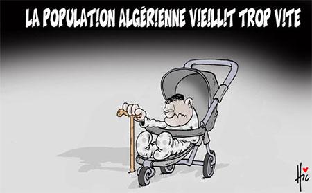 La population algérienne vieillit trop vite - Dessins et Caricatures, Le Hic - El Watan - Gagdz.com