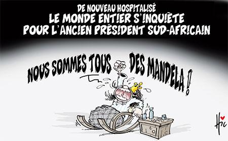 Le monde entier s'inquiète pour l'ancien président sud-africain - Dessins et Caricatures, Le Hic - El Watan - Gagdz.com