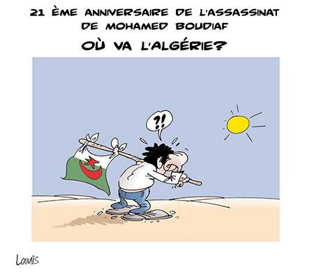 Ou va l'Algérie - Dessins et Caricatures, Lounis Le jour d'Algérie - Gagdz.com