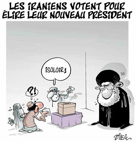 Les Iranien votent pour élir leur nouveau président - Dessins et Caricatures, Dilem - Liberté - Gagdz.com