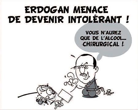 Erdogan menace de devenir intolérant - Dessins et Caricatures, Vitamine - Le Soir d'Algérie - Gagdz.com