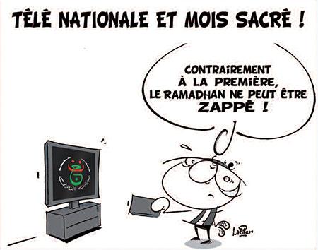 Télé nationale et mois sacré - Dessins et Caricatures, Vitamine - Le Soir d'Algérie - Gagdz.com