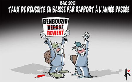 Bac 2013: Taux de réussite en baisse par rapport à l'année passée - Dessins et Caricatures, Le Hic - El Watan - Gagdz.com