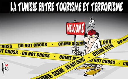 La Tunisie entre tourisme et terrorisme - Dessins et Caricatures, Le Hic - El Watan - Gagdz.com