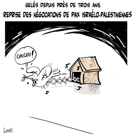 Reprise des négociations de paix israélo-palestiniennes - Dessins et Caricatures, Lounis Le jour d'Algérie - Gagdz.com