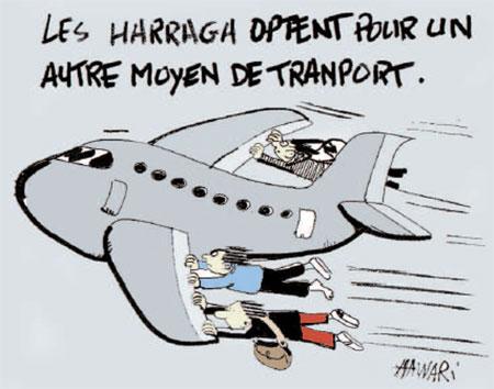 Les harraga optent pour un autre moyen de transport - Dessins et Caricatures, Hawari - La Tribune des Lecteurs - Gagdz.com