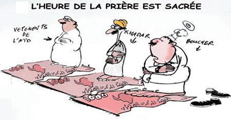 L'heure de la prière est sacrée - Dessins et Caricatures, Jony-Mar - La voix de l'Oranie - Gagdz.com