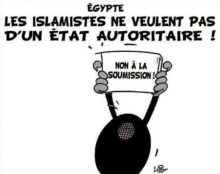 Egypte: Les islamistes ne veulent pas d'un état autoritaire - Dessins et Caricatures, Vitamine - Le Soir d'Algérie - Gagdz.com