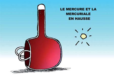 Le mercure et la mercuriale en hausse - Dessins et Caricatures, Ghir Hak - Les Débats - Gagdz.com