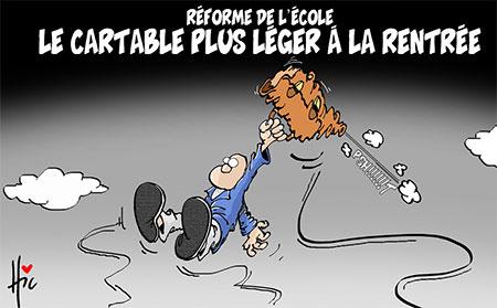 Le cartable plus léger à la rentrée - Dessins et Caricatures, Le Hic - El Watan - Gagdz.com