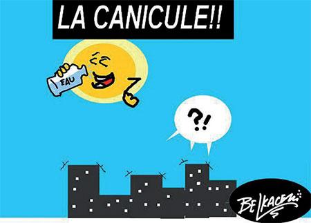 La canicule - Belkacem - Le Courrier d'Algérie, Dessins et Caricatures - Gagdz.com