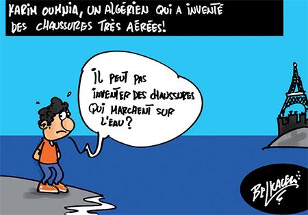 Karim Oumnia, un algérien qui a inventé des chaussures très aérées - Belkacem - Le Courrier d'Algérie, Dessins et Caricatures - Gagdz.com