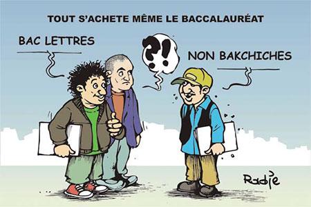 Tout s'achète même le baccalauréat - Dessins et Caricatures, Ghir Hak - Les Débats - Gagdz.com