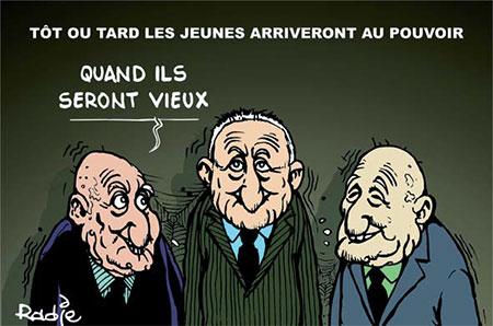Tôt ou tard les jeunes arriveront au pouvoir - Dessins et Caricatures, Ghir Hak - Les Débats - Gagdz.com