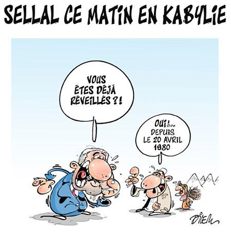 Sellal ce matin en Kabylie - Dessins et Caricatures, Dilem - Liberté - Gagdz.com