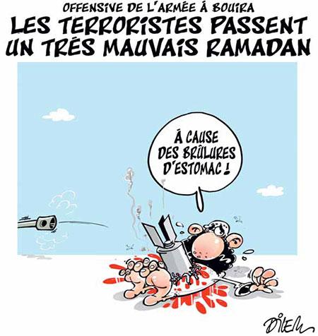 Les terroristes passent un très mauvais ramadan - Dessins et Caricatures, Dilem - Liberté - Gagdz.com