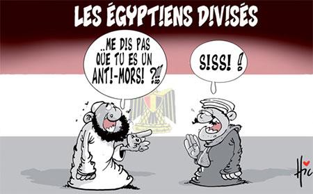 Les Egyptiens divisés - Dessins et Caricatures, Le Hic - El Watan - Gagdz.com