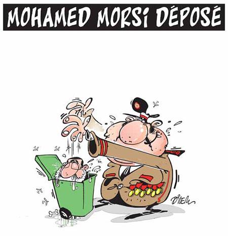 Mohamed Morsi déposé - Dessins et Caricatures, Dilem - Liberté - Gagdz.com