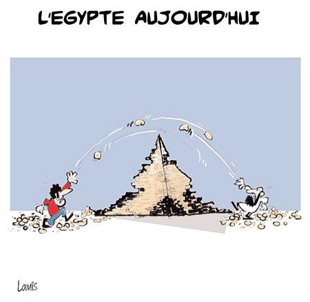 L'Egypte aujourd'hui - Dessins et Caricatures, Lounis Le jour d'Algérie - Gagdz.com