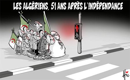 Les Algériens 51 ans après l'indépendance - Dessins et Caricatures, Le Hic - El Watan - Gagdz.com