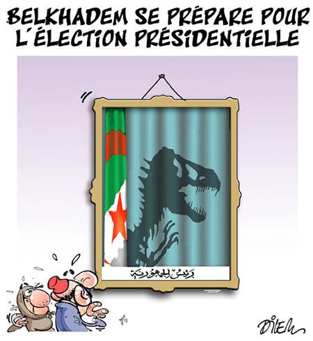 Belkhadem se prépare pour l'élection présidentielle - Dessins et Caricatures, Dilem - Liberté - Gagdz.com