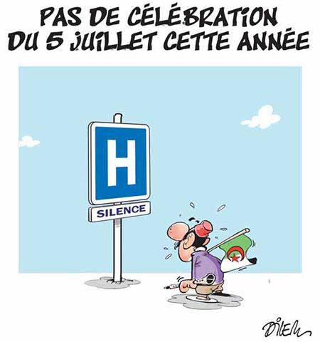 Pas de célébration du 5 juillet cette année - Dessins et Caricatures, Dilem - Liberté - Gagdz.com