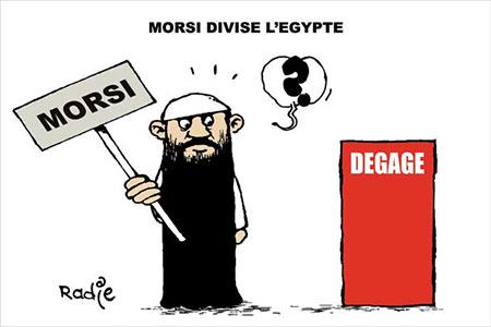 Morsi divise l'Egypte - Dessins et Caricatures, Ghir Hak - Les Débats - Gagdz.com