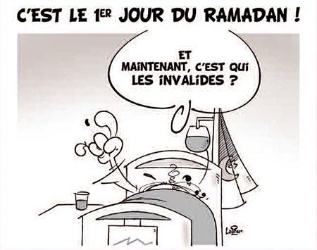 C'est le 1er jour du ramadan - Dessins et Caricatures, Vitamine - Le Soir d'Algérie - Gagdz.com