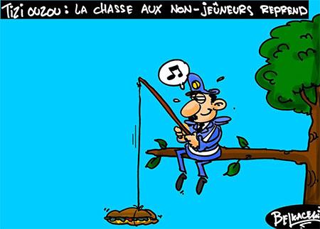 Tizi Ouzou: La chasse aux non-jeûneurs reprend - Belkacem - Le Courrier d'Algérie, Dessins et Caricatures - Gagdz.com
