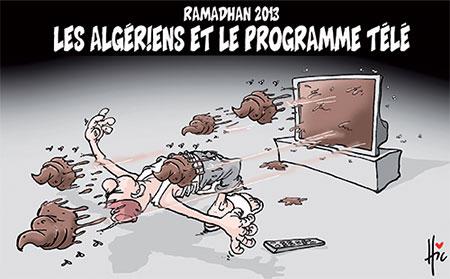 Les Algériens et le programme télé - Dessins et Caricatures, Le Hic - El Watan - Gagdz.com