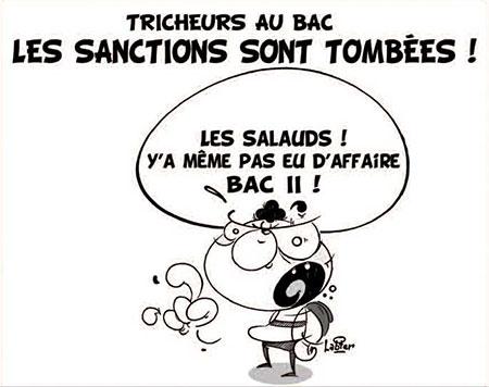 Tricheurs au bac: Les sanctions sont tombées - Dessins et Caricatures, Vitamine - Le Soir d'Algérie - Gagdz.com