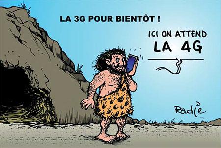 La 3G pour bientôt - Dessins et Caricatures, Ghir Hak - Les Débats - Gagdz.com