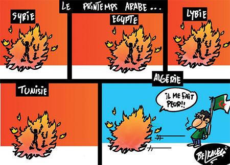 Le printemps arabe - Belkacem - Le Courrier d'Algérie, Dessins et Caricatures - Gagdz.com