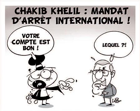 Chakib Khelil: Mandat d'arrêt international - Dessins et Caricatures, Vitamine - Le Soir d'Algérie - Gagdz.com