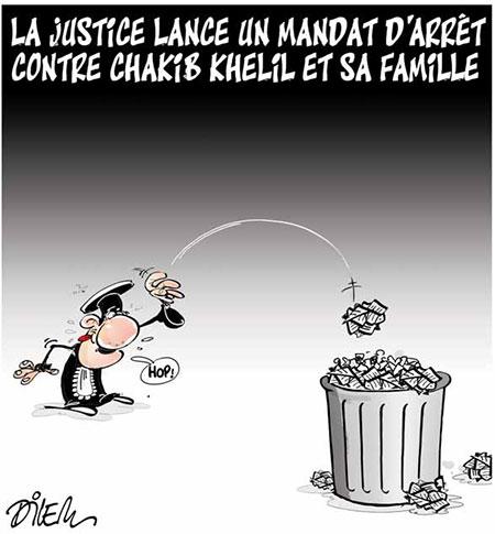 La justice lance un mandat d'arrêt contre Chakib Khelil et sa famille - Dessins et Caricatures, Dilem - Liberté - Gagdz.com