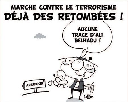Marche contre le terrorisme: Déjà des retombées - Dessins et Caricatures, Vitamine - Le Soir d'Algérie - Gagdz.com