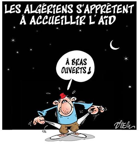 Les Algériens s'apprêtent à accueillir l'aïd - Dessins et Caricatures, Dilem - Liberté - Gagdz.com