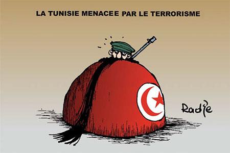 La Tunisie menacée par le terrorisme - Dessins et Caricatures, Ghir Hak - Les Débats - Gagdz.com