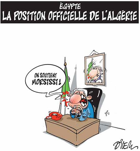Egypte: La position officielle de l'Algérie - Dessins et Caricatures, Dilem - Liberté - Gagdz.com