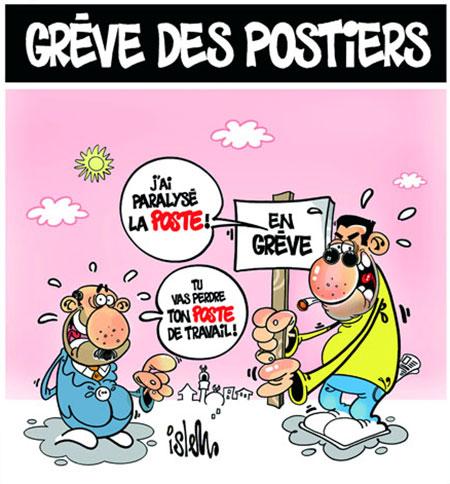 Grève des postiers - Dessins et Caricatures, Islem - Le Temps d'Algérie - Gagdz.com