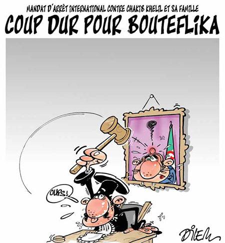 Mandat d'arrêt contre Chakib Khelil: Coup dure pour Bouteflika - Dessins et Caricatures, Dilem - Liberté - Gagdz.com