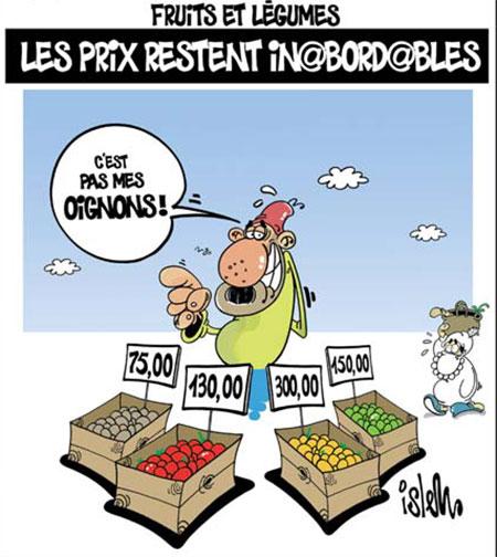 Fruits et lègumes: Les prix restent inabordables - Dessins et Caricatures, Islem - Le Temps d'Algérie - Gagdz.com