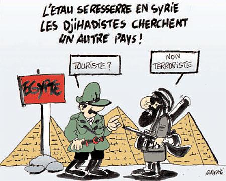 L'etau se ressere en Syrie, les djihadistes cherchent un autre pays - Dessins et Caricatures, Hawari - La Tribune des Lecteurs - Gagdz.com