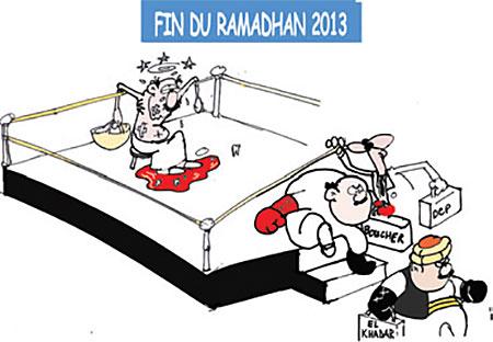 Fin du ramadhan 2013 - Dessins et Caricatures, Jony-Mar - La voix de l'Oranie - Gagdz.com