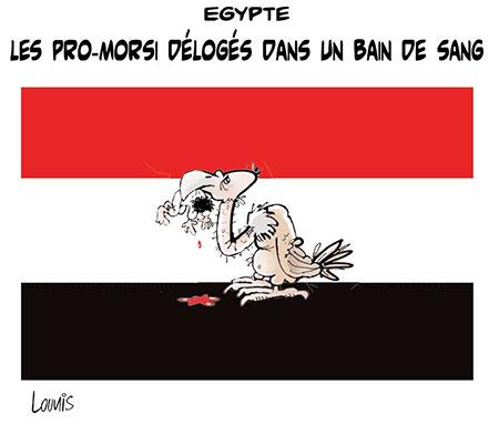 Egypte: Les pro-Morsi délogés dans un bain de sang - Dessins et Caricatures, Lounis Le jour d'Algérie - Gagdz.com